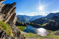 ubaye mountains and lakes alps